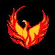 Pixel art phoenix